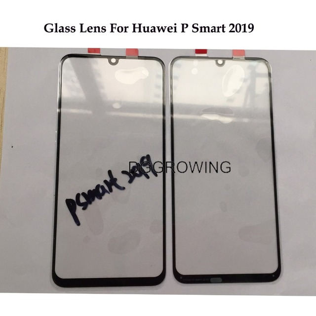 VDG 10 PCS LCD קדמי זכוכית עדשה עבור Huawei P חכם 2019 POT-LX3 POT-LX1 מגע מסך פנל LCD קדמי חיצוני זכוכית עדשת החלפה