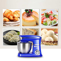 220V Household Electric 6.5L Dough Mixer Automatic Multifunctional Electric Food Mixer Kitchen Stand Bread Cake Dough Mixer