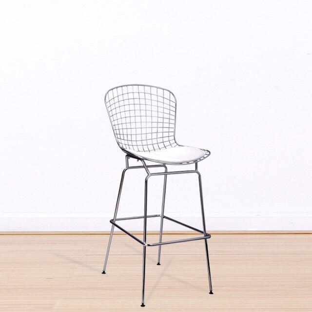 Bar Stühle barhocker metall eisendraht zähler bar stuhl verchromten stahl shell