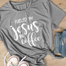 ded66e55 Fueled by jesus and coffee t shirt 90s babygirl fashion tees grunge  aesthetic tops harajuku women shirt summer slogan t shirt
