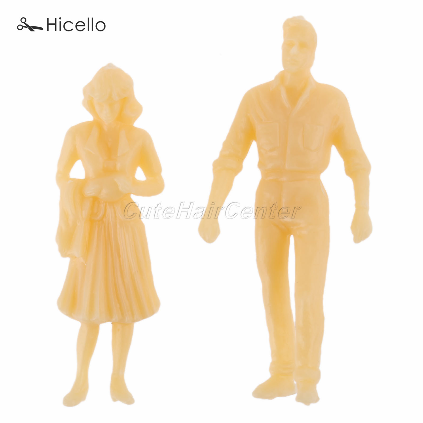 50pcs Model People Scale Skin color 36mm Figures Passenegers Train Scenery 1:<font><b>50</b></font> Scene Simulation Party Decoration image