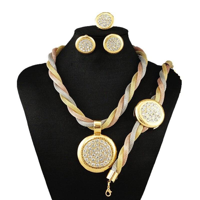 Festa de casamento africano conjuntos de jóias brilhantes pedras grandes  conjuntos de jóias de prata banhado conjuntos de jóias de prata 1e8346d459
