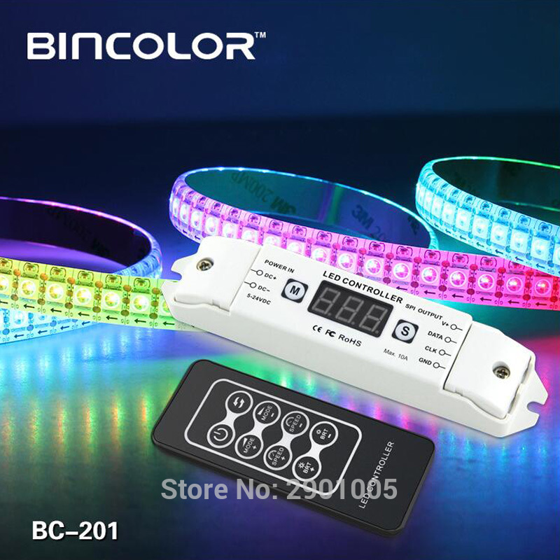 NEW LED Pixel SPI Strip Controller RGB RGBW Dimmer DC5V 24V Digital Addressable Control 2801 2811 2812 8806 IC Tape Strip Lights