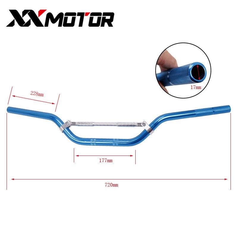 745mm Aluminum Handle bar Motorcycle handlebar 7/8 inch 22MM For Cheap Pit Bike Dirt Bike Difection Handle Fot Bar Grip Rod