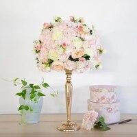 Высокое качество искусственный свадебный цветок расположение диаметр 36 см цветок букет свадебное украшение цветок стол центральный 4 шт./п