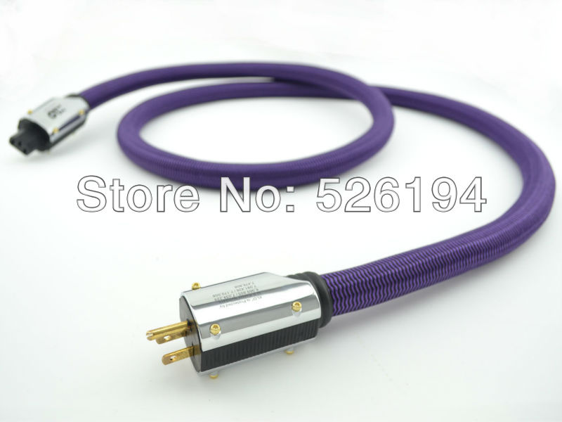 Free shipping DHL XLO Purple Rush HIFI US AC Audiophile Power cable 2M without box dhl free shipping arming