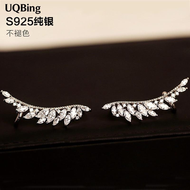 New Style Beautiful Fashion 925 Silver Crystal Rhinestone Stud Earrings Jewelry Pendientes Brincos Fashion Jewelry Drop Shipping