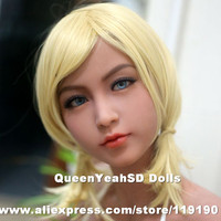 Top quality sex doll head for realistic silicone mannequins, japanese real doll heads can have oral sex, sexy toys for man