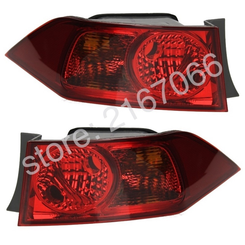 2pcs Tail Lights Fits Honda Accord 2002 2003 2004 2005 2006 2007 2008 Rear Lamps Set Left Right Pair