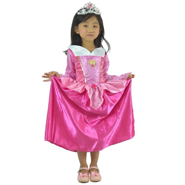 Party Cosplay jelmez szállító aranyos kis lány karácsonyi rózsa piros Hamupipőke szoknya hercegnő Halloween jelmezek divatos ruha