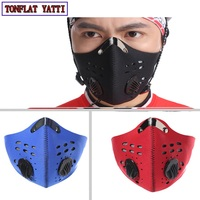 Anti-dust Bicycle Activated Carbon Mask Windproof Waterproof And Dustproofhalf Face Mask Filter Bike Cycling Motocycle Mask