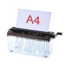 """Шредер A4 """" ручной Бумага Шредер документ файл ручной работы прямая камнерезная машина инструмент для школы Office для дом"""