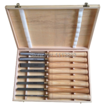 8PCS Wooden Turning Chisel SET H.S.S Blade in wooden box