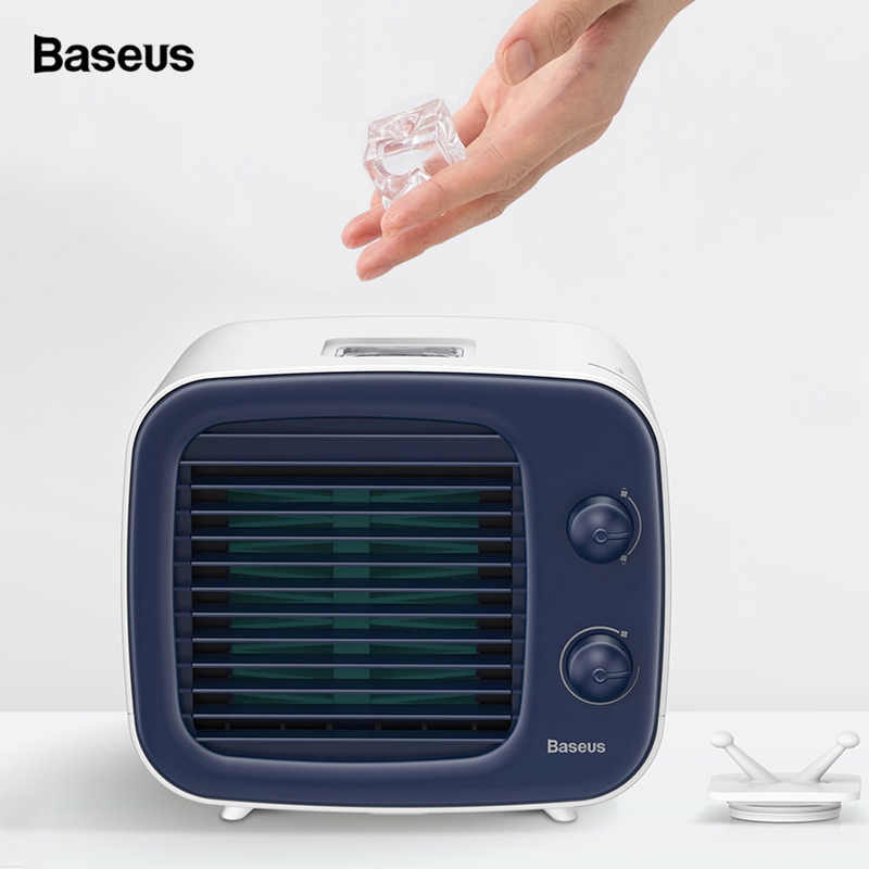 Baseus USB Cooling Fan Mini Air Conditioner Cooler Fan Portable Air Humidifier Purifier 3 Speed Desk