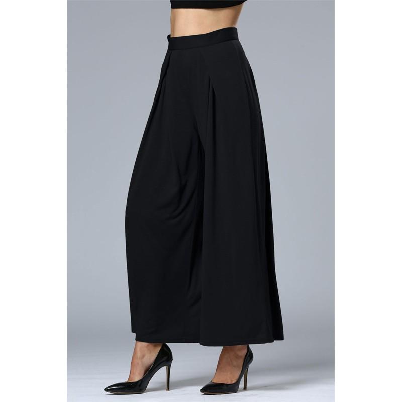 HTB1ZGf7OFXXXXbPXVXXq6xXFXXXa - Wide Leg Pants High Waist Long Pants Button Office Work Wear PTC 186