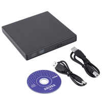 Nova Luz 13.5*13.2*1.6 cm Ultra Fino Externo Slot-in USB 2.0 Externo de DVD Combo CD-RW drive gravador de CD +-RW DVD ROM Preto
