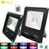 New 50W 30W 20W 10W Outdoor Lighting Waterproof IP65 Floodlight Garden Remote Control RGB 220V 110V