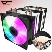 Darkflash-enfriador de CPU RGB, 6 tubos de calor con ventilador led, 3pin, 90mm, CPU, puede ser ins para ordenador 775/LGA/2011/115x/1366 AM2/AM3/AM4
