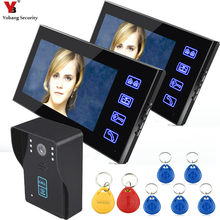 Yobang Security Freeship 7 Inch Video Door Phone RFID Doorbell Camera Call And Dual Intercom Waterproof Door Video intercom
