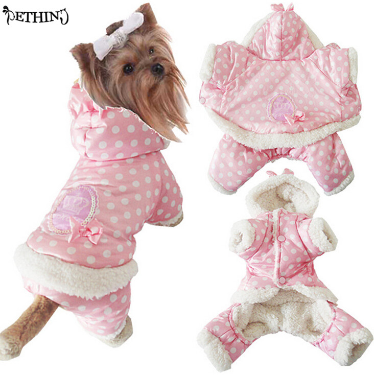 2015 new pet clothes winter warm soft short floss dog pupply keep in cat S M L XL
