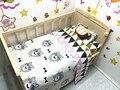 Promoção! 3 PCS conjunto fundamento do bebê berço cama dos desenhos animados jogo de cama 100% algodão decoração, Incluem ( capa de edredão / folha / fronha )
