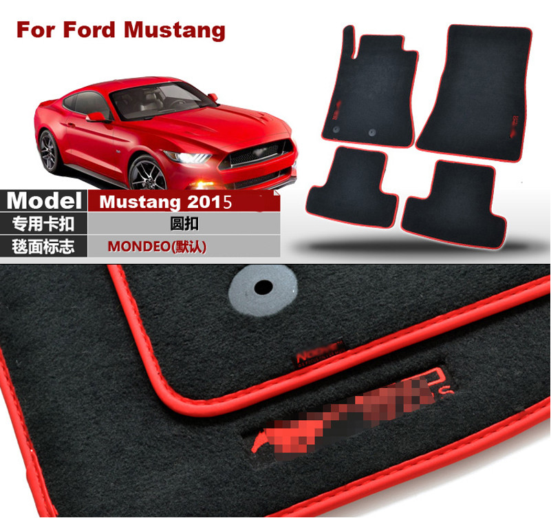 купить Ipoboo Brand New 4pcs Premium Solid Black Nylon Car Floor Mats Carpet Exactly Fit For Ford Mustang 2015 по цене 9178.98 рублей