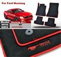 Marca New 4 pcs Premium Preto Sólido Nylon Esteiras Do Assoalho Do Carro Tapete Exatamente Apto Para Ford Mustang 2015