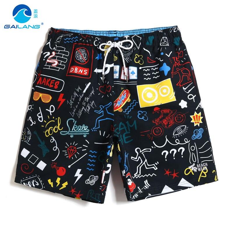 Gailang бренд высокое качество Для мужчин модный дизайн Удобная Талия на резинке пляжные шорты Плавки Для мужчин печатных шорты для активного отдыха|Плавки и пляжные шорты|   | АлиЭкспресс