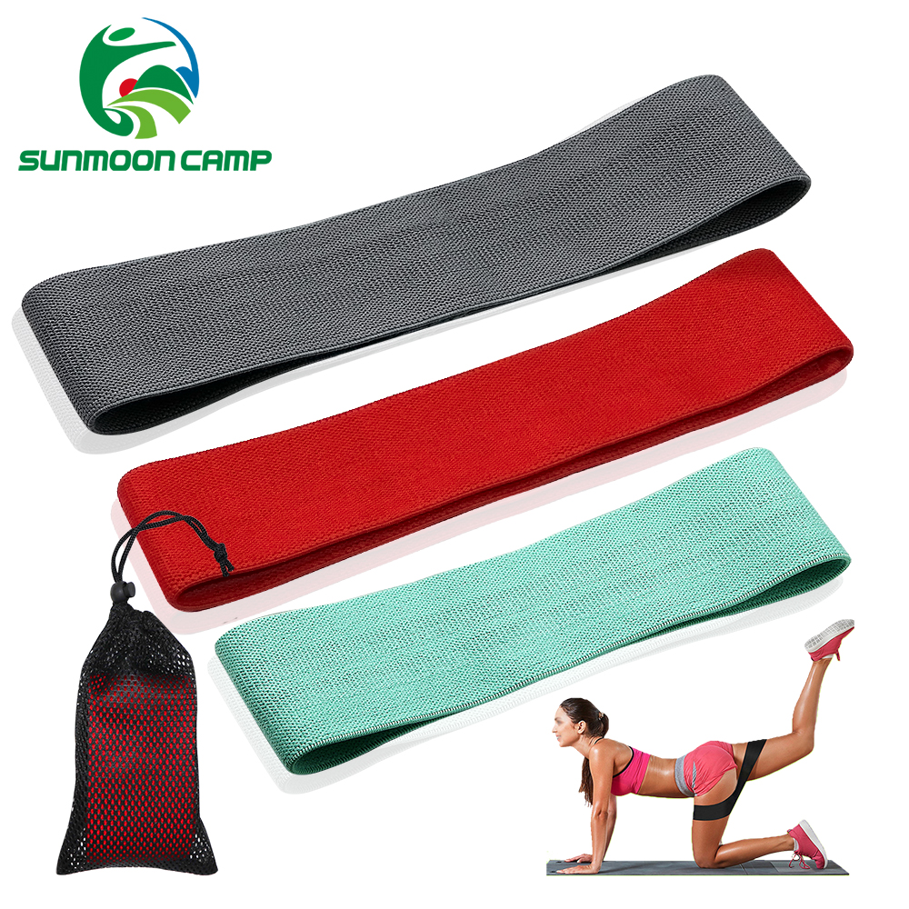 SUNMOON CAMP Unisex Booty Hip Circle Loop Resistance Band Workout Exercise for Legs