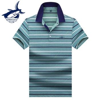 853095cbd31 Camiseta Polo para hombre marca Tace & Shark de verano 2019 camisa de Polo  a rayas informal de algodón de alta calidad para hombre 3XL 3D camisas
