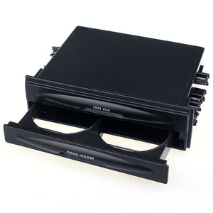 Car Storage tools Universal Car auto Double Din Radio Pocket Drink Cup Holder+Storage Box dropship f17(China)