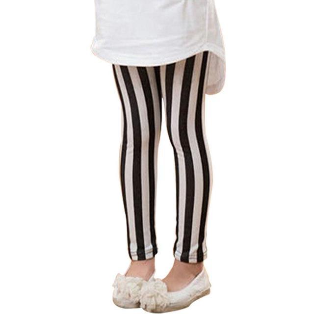 90736fdb3938ca kids legging Girls vertical striped Leggings Pants Trousers Children's  Clothing 2019 spring 4-8 years old white red