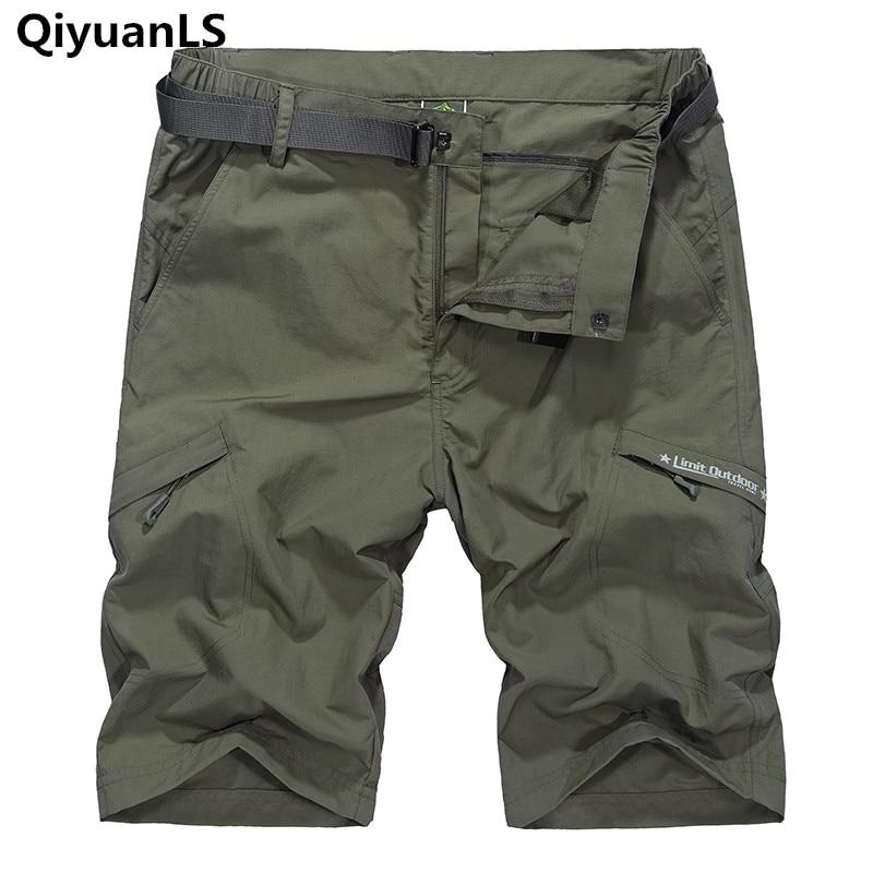 Summer Mens Casual Shorts Brand Clothing Military Cargo Shorts With Belt Pocket Short Pantalones Cortos Quick Dry Loose shorts