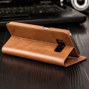 Image 2 - Роскошный кожаный чехол Musubo с откидной крышкой для Samsung Galaxy S10 Plus S10 + S10E S9 Plus S8 + S9 + чехол с отделением для карт