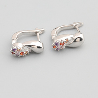Remarkable Multi Color MultiGem 2 2mm Semi Precious Silver Cool For Womens Earrings ED0628