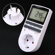Electronic Digital Timer Switch Socket EU Plug-in Programmable 7 Day 12/24 Hour for Kitchen