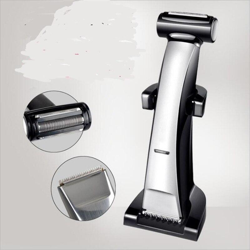 2 en 1 rasoir électrique lavable rasoir tondeuse à barbe tête crâne coupe de cheveux tondeuse corps épilateur chauve rasage tête rasé Cutter