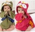 Sample 1PCS Free Shipping Owl Baby Bath Towels Children's Bath Robe Newborn Blankets Hoodie Bathing Towel Hooded Bathrobe D214