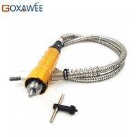 Goxawee 6mm flexível flex eixo se encaixa + 0-6.5mm handpiece para dremel estilo broca elétrica ferramenta elétrica rotativa acessórios moedor