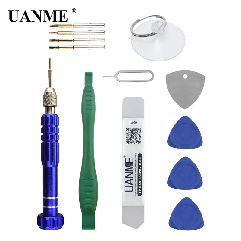 UANME 9 IN 1 Repair Tools Kit For iPhone 4 5 6 6plus/iPad/Tablet/Smartphone Screwdriver Set Mobile Phone Repair Tools image