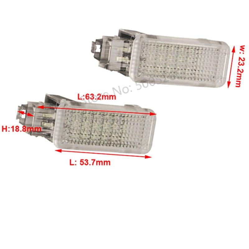Светодиодный логотив для дверей автомобиля ног багажная лампа свет для Audi RS4 A6 S6 A8 S8 Q5 Q7 Skoda Porsche 987 Boxster VW Golf 4 5 6
