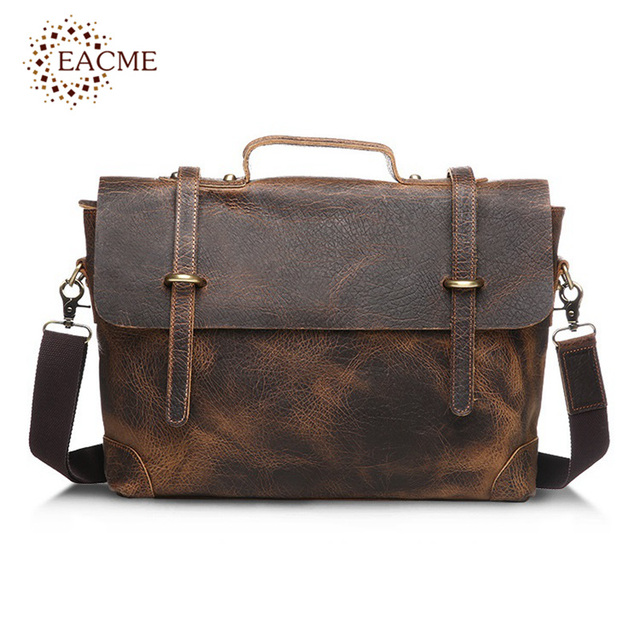 af5d21845569 EACME Fashion Business Handbag Men s Briefcase Leather Men Bags Notebook  Laptop Bag 15 Inch Messenger Bag