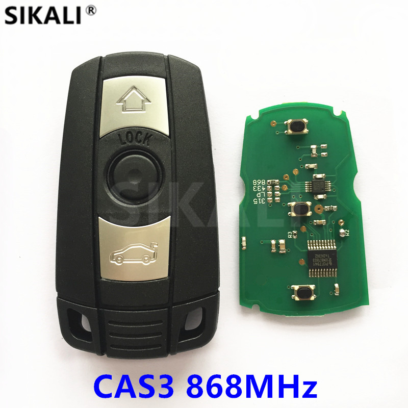 Carro Chave Remoto Inteligente para BMW CAS3 Sistema de 868 MHz para 1/3/5/7 Série X5 X6 Z4