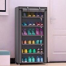 Шкаф для обуви 7-слой 6-сетка нетканых материалов большой шкаф для обуви Организатор съемный хранения обуви для мебель для дома
