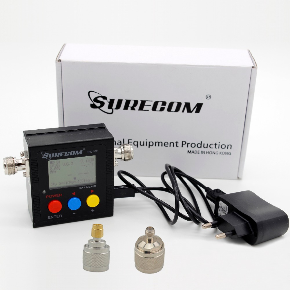 SURECOM SW 102 125 525 Mhz 120W Digital VHF UHF Power SWR Meter Frequency Counter with
