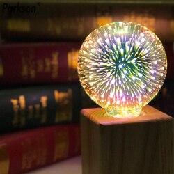 3D звезда 220V E27 Светодиодная лампа Эдисона лампада ST64 A60 G80 G95 G125 Алмазный в форме сердца Форма праздничный новогодний декор светодиодный пото...