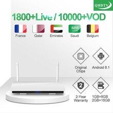 IPTV France Leadcool R6 1 year QHDTV Code Arabic Subscription Smart TV Box Netherlands Belgium Morocco Qatar IP