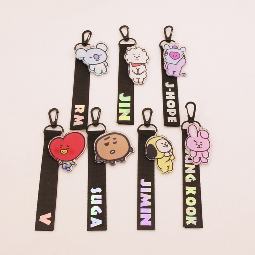 Kpop BTS Bangtan Boys 2018 new men women Suspenders belt Name bar School bag streamers Surrounding The same paragraph Lanyard ...
