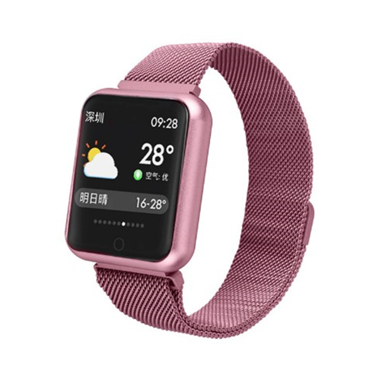 Smartwatch IP68 Waterproof Activity Tracker square Smart Watch for women men fitness tracker vs Q9 P68 wristband for ios android