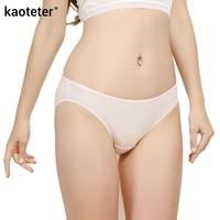 100% Real Silk Women's Panties Women Briefs New Female Underwear Ms. Seamless Low Rise Waist Thin Woman Underwears Ladies